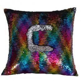 Funda de almohada mágica lentejuelas almohada sirena 40*40cm funda de cojín decorativa Reversible de lentejuelas funda de almoha