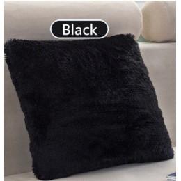 """40x40 cm/15,75x15,75 """"funda de cojín monocolor de felpa larga decorativa funda de almohada asiento sofá abrazar funda de almohad"""