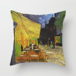 Van Gogh pintura al óleo funda de cojín sofá hogar fundas de almohada decorativas girasol autorretrato cielo estrellado funda de