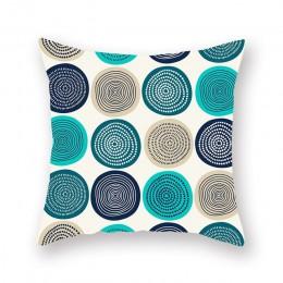 Funda de cojín de sofá de patrón de geometría clásica sala de estar sofá de oficina funda de almohada para cintura Casual funda