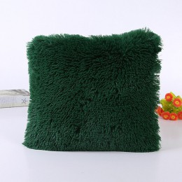Funda de cojín decorativa al por mayor de piel sintética sólida suave almohadas para silla de coche sofá hogar Hotel decoración