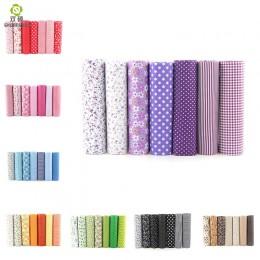 7 Uds. 24x24cm mezcla de algodón impreso costura tejidos acolchados calidad básica para Patchwork costura DIY tela hecha a mano