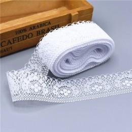 10 yardas de alta calidad hermosa cinta de lazo blanco 40MM recorte de encaje DIY bordado para costura decoración tela de encaje