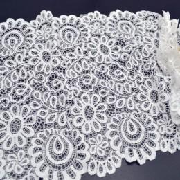 Nueva llegada 3 yardas 22cm tela de encaje blanco negro artesanía DIY suministros de costura accesorios de decoración para prend