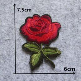 Nueva llegada Rosa flor parches Aplicación de bordado ropa parche para coser DIY insignia parche accesorios 1 Uds venta envío gr