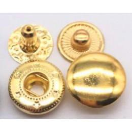 50 set/Pack 10mm 12,5mm 15mm botones de presión de Metal Botón de coser sujetadores de botones de costura de cuero artesanía rop