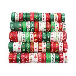 "12 yardas 3/8 ""10mm/6-25mm blanco, verde, rojo al azar 12 estilos de impresión cintas de satén grogrén decoración navideña S0204"