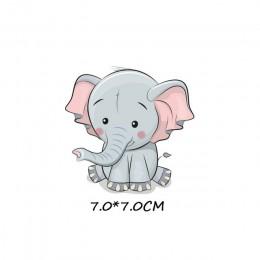 Hierro en parches pequeño animal lindo unicornio transferencia térmica para adhesivos para ropa letras insignias lavable DIY cam