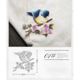 Pájaro hierro en los parches para la ropa Animal de la abertura bordado apliques sombrero DIY abrigo vestido pantalones accesori