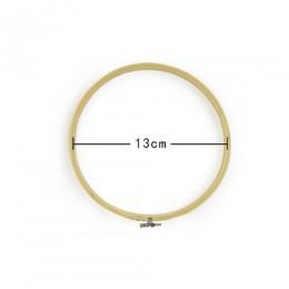 1 Uds. 13-26cm de madera práctica punto de cruz máquina de bordado aro de bambú marco bordado aro redondo herramientas de coser