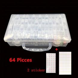 64/128/Uds herramientas de pintura de diamantes contenedor de cuentas de diamantes de imitación bordado de piedra de almacenamie