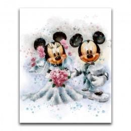 5D diamante pintura dibujos animados Mickey Mouse perro completo redondo diamante mosaico completo cuadrado diamante bordado pun