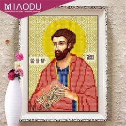 Miaodu 5d pintura de diamantes Diy punto de cruz Retro ícono religioso del líder mosaico de diamantes hombres bordado de diamant