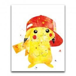 5D DIY diamante pintura dibujos animados Pikachu pokemon completo cuadrado diamante bordado punto de cruz decoración completa re