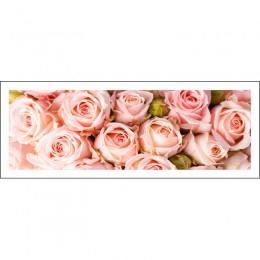 Pintura de diamante completo 128x48cm patrón de rosa pintura decorativa mosaico hecho a mano de diamantes de imitación, flores,
