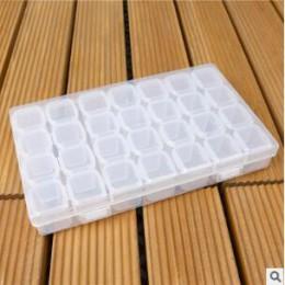 28 ranuras caja de pintura de diamante accesorios de plástico transparente para abalorios cajas de almacenamiento herramientas d