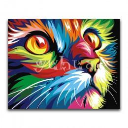 Cuadrado completo Tigre bordado de diamantes y León DIY 3D diamante pintura punto de cruz perro y gato completo redondo diamante