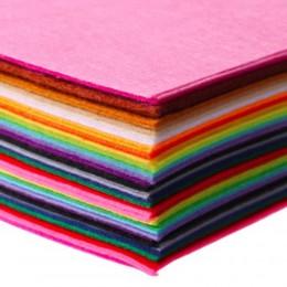 40 Uds. 15x15cm 40 colores/lote Diy tejido de fieltro no tejido Feltro poliéster acrílico telas no tejidas