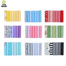 Alta calidad Serie 10 Serie Floral tela patchwork algodón tela de mechones cuarto grueso para coser ropa para muñeca 40*50cm 7 u