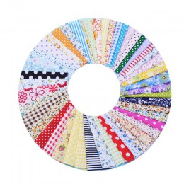 50 Uds 10cm x 10cm tela de algodón tela impresa de coser tejidos acolchados Patchwork, costura DIY