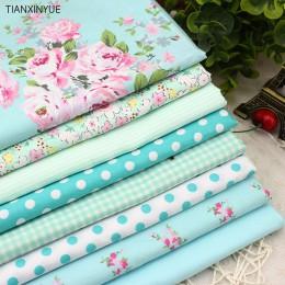 8 unids/lote 40cm x 50cm Victoria set flor impresa tela de algodón para acolchado patchwork tela de cama tissus