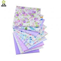Shuanshuo púrpura paquete Patchwork tela de algodón grasa paño para coser Patchwork muñeca ropa Tilda colcha tejido 9 unids/lote