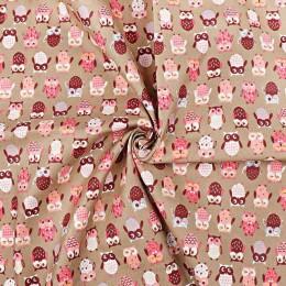 45*150CM lindo búho estampado telas estampado de dibujos animados tejidos acolchados para ropa niños muñecas decoración textil c