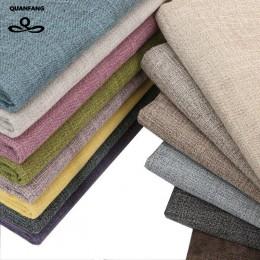QUANFANG tela de lino de algodón color sólido para acolchado de Patchwork/costura DIY/mantel de sofá/funda de muebles tejido/med