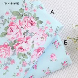40*50cm elige color 100% tela de algodón Victoria rosas azules ropa de cama DIY para coser patchwork cojín tejidos acolchados