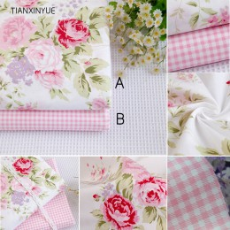 40*50cm ropa de cama Rosa 95% algodón tela grasa cuartos para coser tela para muñeca tilda DIY acolchado Patchwork tejido textil