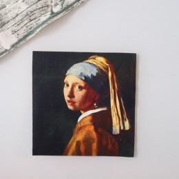 1 Uds. Van Gogh pintura al óleo 18cm x 18cm tela de algodón Patchwork telas costura de tela DIY Patchwork bordado a mano acolcha