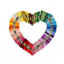 Nuevo bordado de 50 piezas de Color al azar DIY hilo de seda hilo de rama Similar hilo de hilo Dmc hilo de punto de cruz