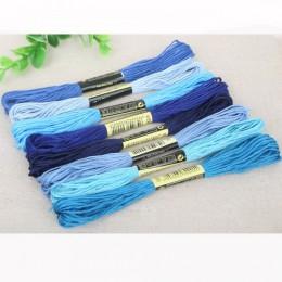 Multi colores 8 unids/lote 7,5 m de longitud hilos similares DMC hilos de punto de cruz de algodón hilos de bordado para DIY acc