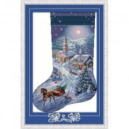 Amor Eterno Navidad media algodón ecológico chino kits de punto de cruz contados estampado 14 11CT Año Nuevo promoción de ventas
