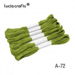 6 piezas de 7 metros de la opción de colores ancla Cruz puntada del bordado de algodón bordado hilo de 20050028 (D6)