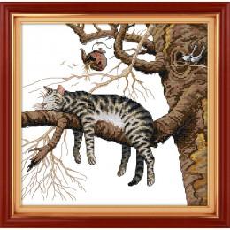 Amor Eterno Navidad un gato perezoso kits de punto de cruz chino algodón ecológico contado estampado 14CT nueva promoción de ven