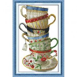 Amor Eterno Navidad elegante taza de café kits de punto de cruz chino algodón ecológico estampado 11 nueva tienda promoción de v