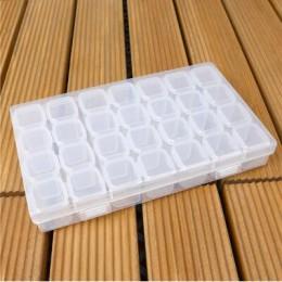 28 rejilla diamante pintura accesorio funda transparente plástico cuentas pantalla caja de almacenamiento para herramientas de p