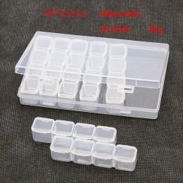 8/28 ranuras caja de pintura de diamante accesorios de plástico transparente para abalorios cajas de almacenamiento herramientas