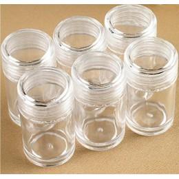 60 uds. Botellas de pintura de diamantes transparentes cuentas de almacenamiento botella bordado cuentas almacenamiento contened