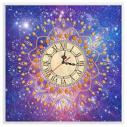 3D especial en forma de diamante bordado frower Reloj de pared 5D pintura de diamante Cruz reloj decoración de mosaicos de diama