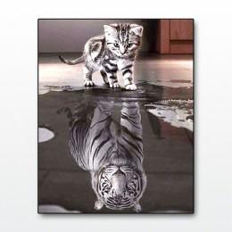 """Miaodu cuadrado completo/taladro redondo 5D DIY diamante pintura """"Dream Animal"""" diamante bordado punto de cruz mosaico decoració"""