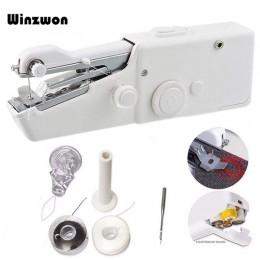 Mini máquina de coser portátil para el hogar, máquina de coser de puntada rápida, costura inalámbrica, telas para ropa, máquina