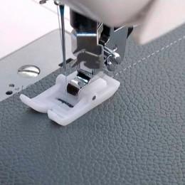 Pie coser a presión prensador pie cuero presión PIE BLANCO antiadherente presión pie inicio máquina de coser Accesorios