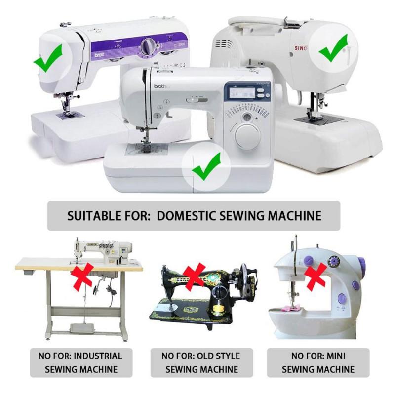 3 uds máquina de coser doméstica prensatelas de pie