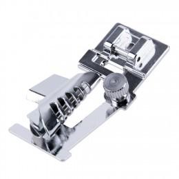 Rodillo Hem Edge Presser Home Zigzag útil ajustable pie coser doméstico práctico duradero Metal recto máquinas Accesorios