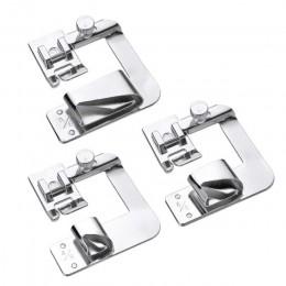 3 uds máquina de coser doméstica prensatelas de pie enrollado Hem pies Set para Brother Singer Janome Babylock Juki accesorios p