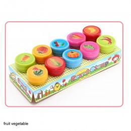 Ronda Multicolor diversión 10 Uds lindo Panda Niño DIY álbum de recortes niños sello de dibujos animados sellos de goma Scrapboo