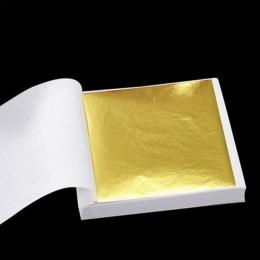 100 Uds. Papel de diseño artístico imitación de oro hoja de cobre hojas de papel de aluminio para dorado decoración de artesanía