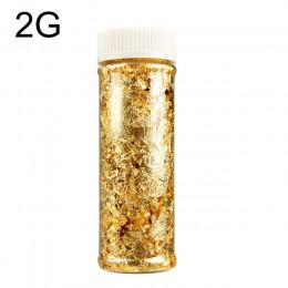 1 Uds. De grado comestible hoja dorada genuina copos de Schabin 2g 3g 24K platos decorativos de oro Chef herramientas de decorac